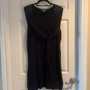 Black Tommy Bahama Sequin LongSleeve Sweater Dress